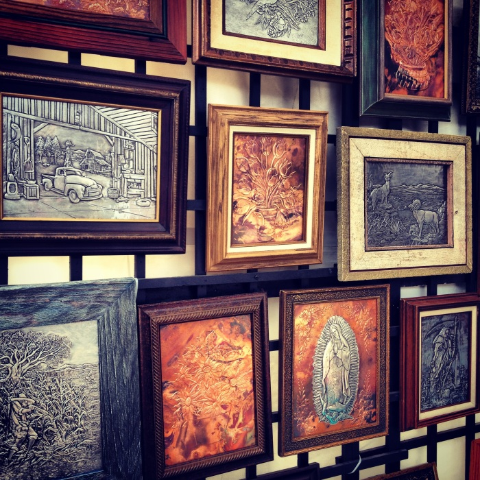 Beautiful metal bas relief by artist Martin Palacios. A couple of these came home with us!