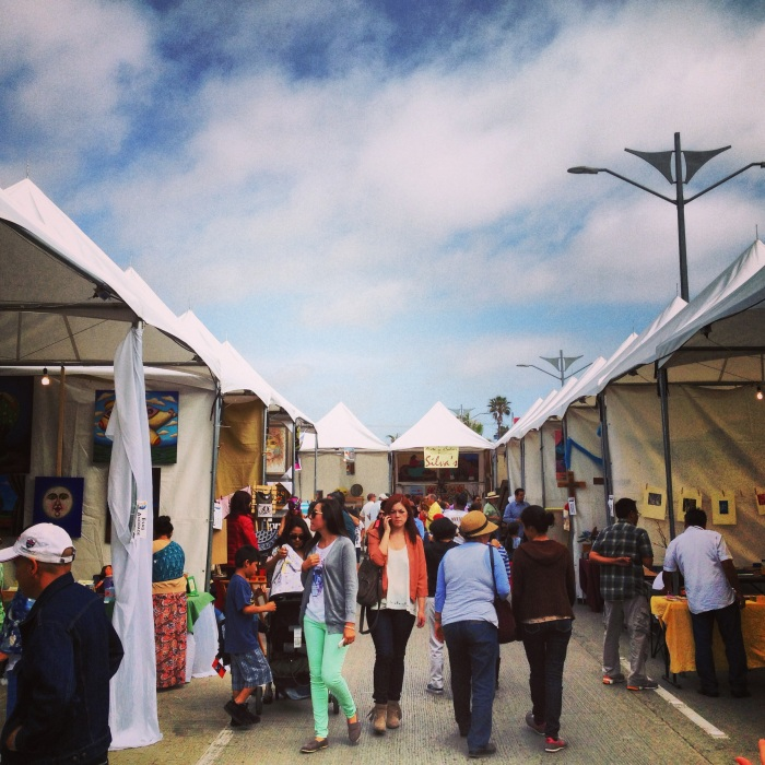 Vendors and artists at the Art Fest