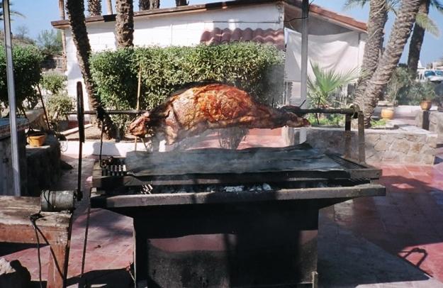 The Saturday night pig roast