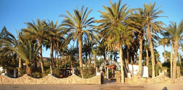 The entrance to Hotel serenidad