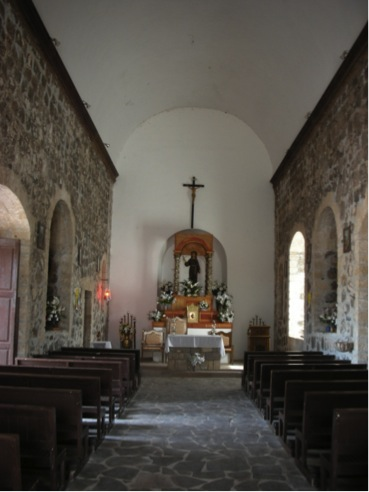 Interior of the Mulegé Mission in 2007. Photo by David Kier.