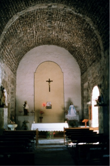 Inside chapel, 2001. Photo by Jack Swords