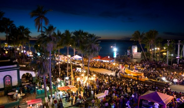 One of my favorite times in Baja is Carnaval in La Paz.  In 2014 it will take place Feb 27 through March 4th and I plan on being there.  This family-oriented event includes, bands, booths of festive foods, rides, parades and so much more all along the beautiful malecón in La Paz. -Carol