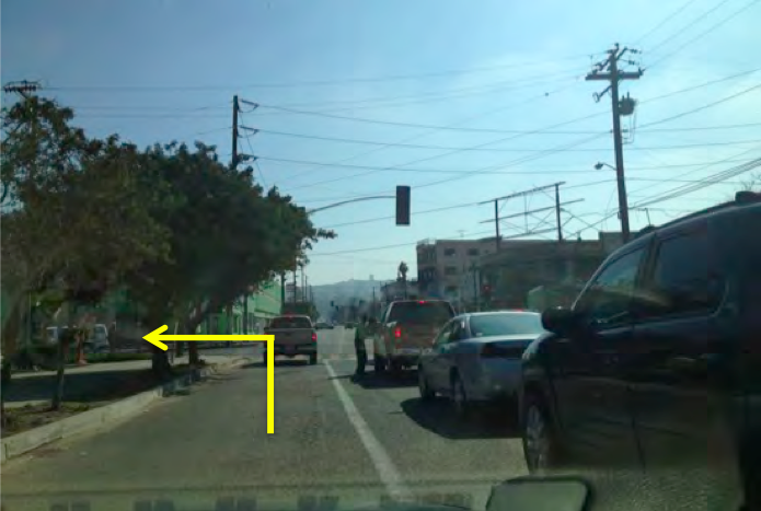 8. You will approach a traffic light in one block. Smart & Final will be on your left. Turn left at the traffic light onto Calle Segunda (be aware that there will be no sign directing you to turn to get to the border here, you have to know the turn).
