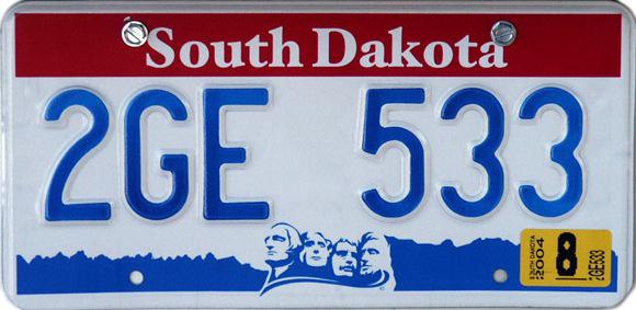 South dakota license plates discover baja travel club for South dakota fishing license