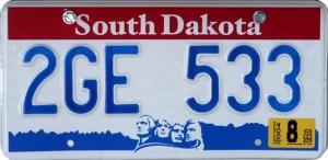 South Dakota license plate - www.discoverbaja.wordpress.com