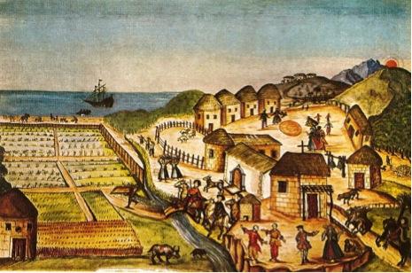 San José del Cabo illustration by Padre Ignacio Tirsch, mid 1760's.