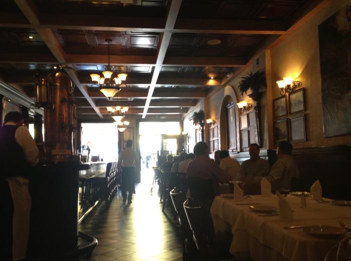 Inside Caesar's Restaurante