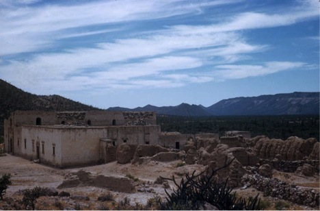 Adobe ruins in 1952 by Howard Gulick.